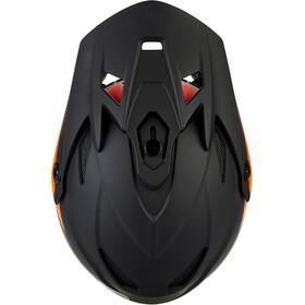 Kali Zoka Casco Hombre, matte black/orange